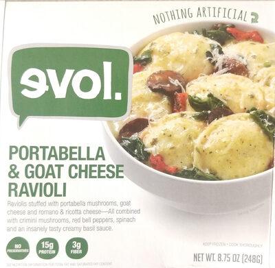 Portabella & goat cheese ravioli - Product