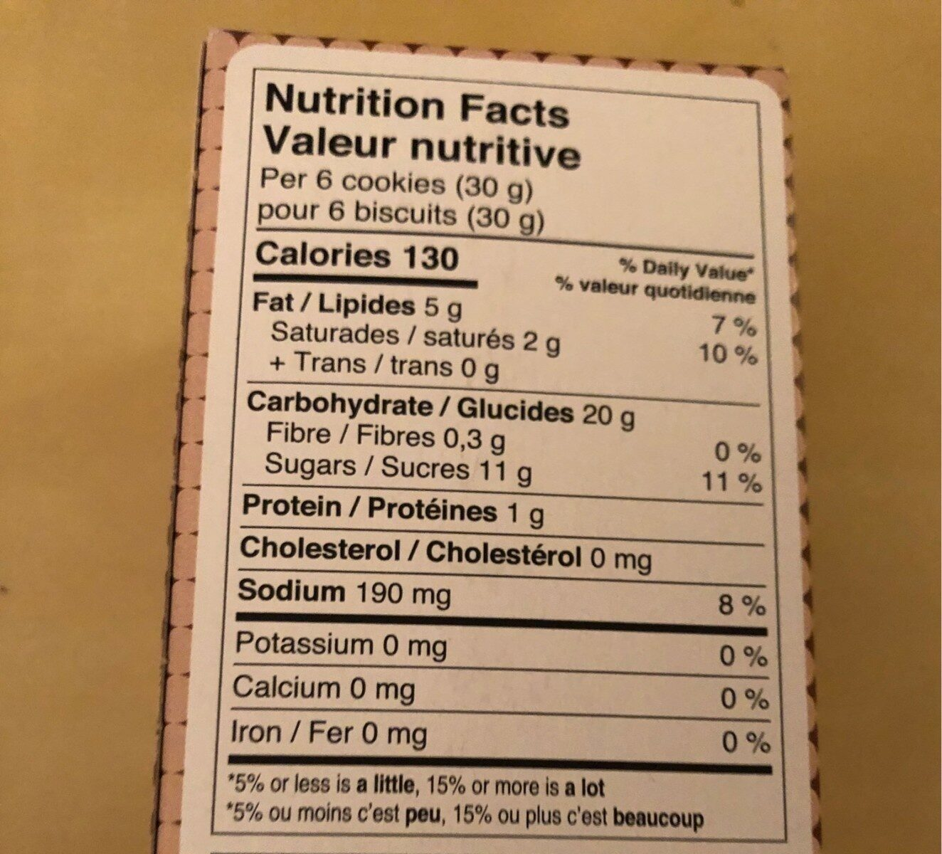 Biscuits au gingembre Vanille - Nutrition facts - fr