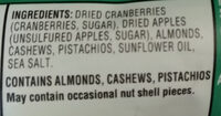 Clasic Fruit + Nut - Ingredients - en