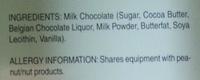 Milk chocolate - Ingredients