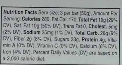Milk Chocolate with Almonds - Nutrition facts