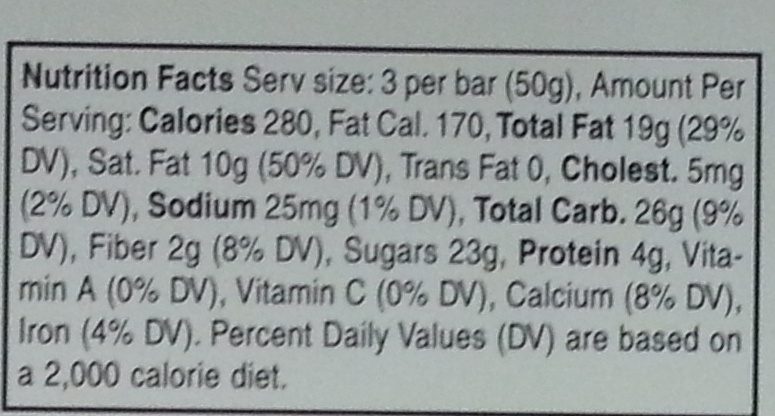 Milk Chocolate with Almonds - Nutrition facts - en