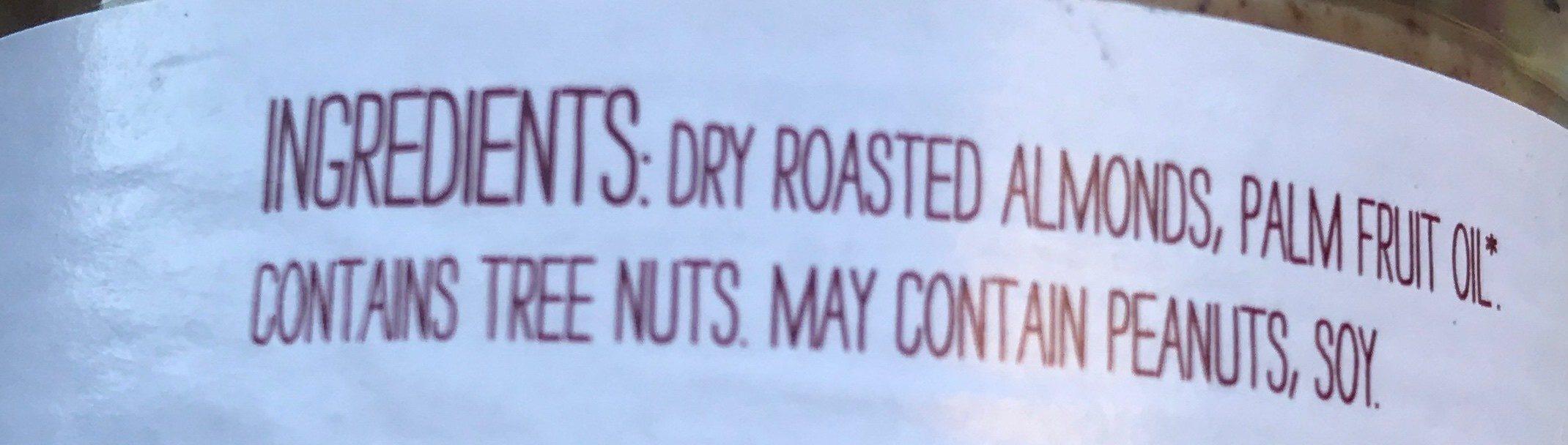 Classic almond butter - Ingredients - en