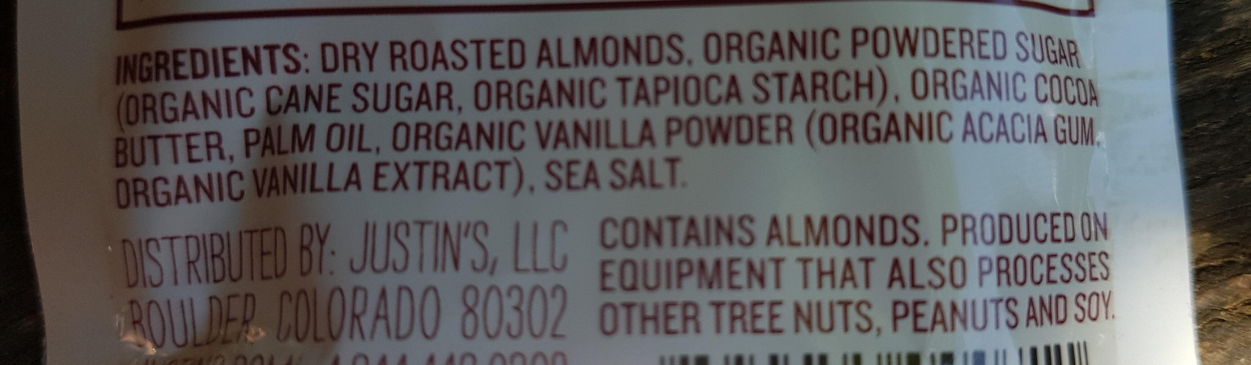 Almond Butter, Vanilla - Ingredients - en