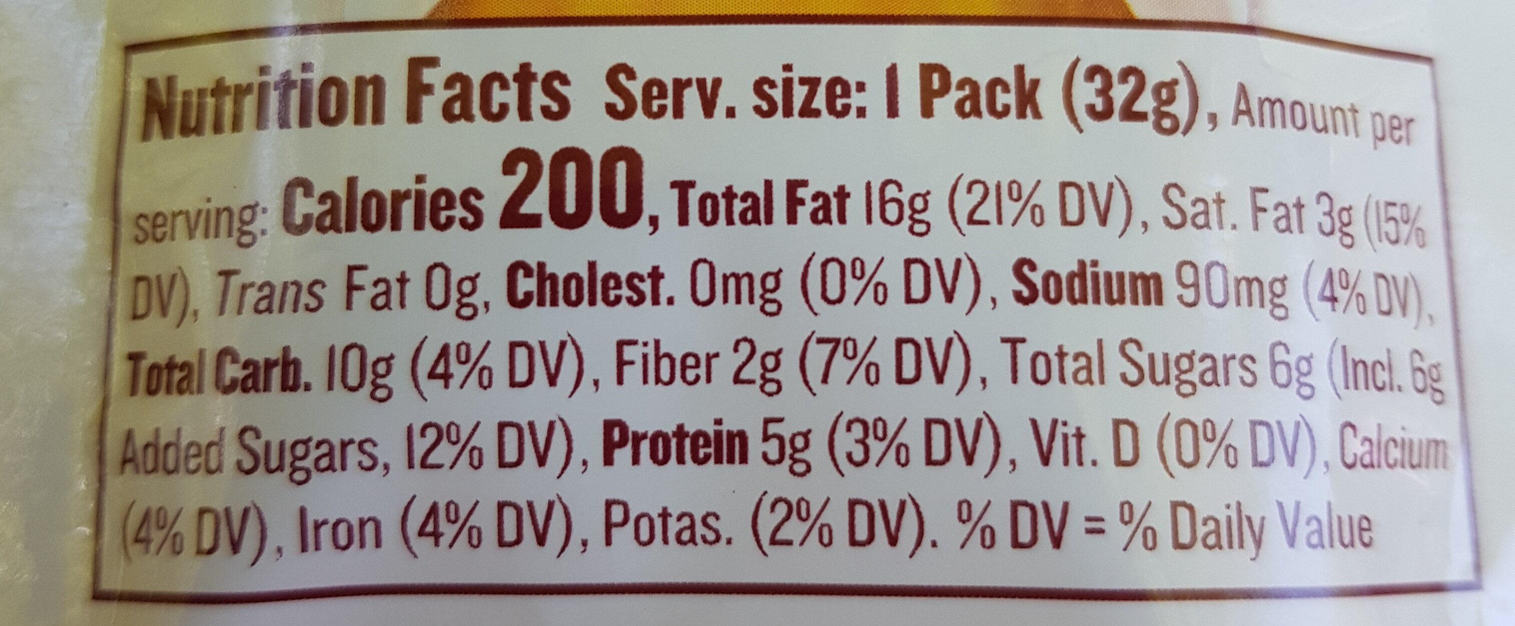 Almond Butter, Vanilla - Nutrition facts - en