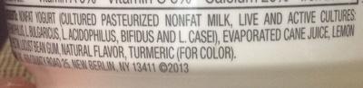 Creamy Blended Greek Yogurt - Ingredients