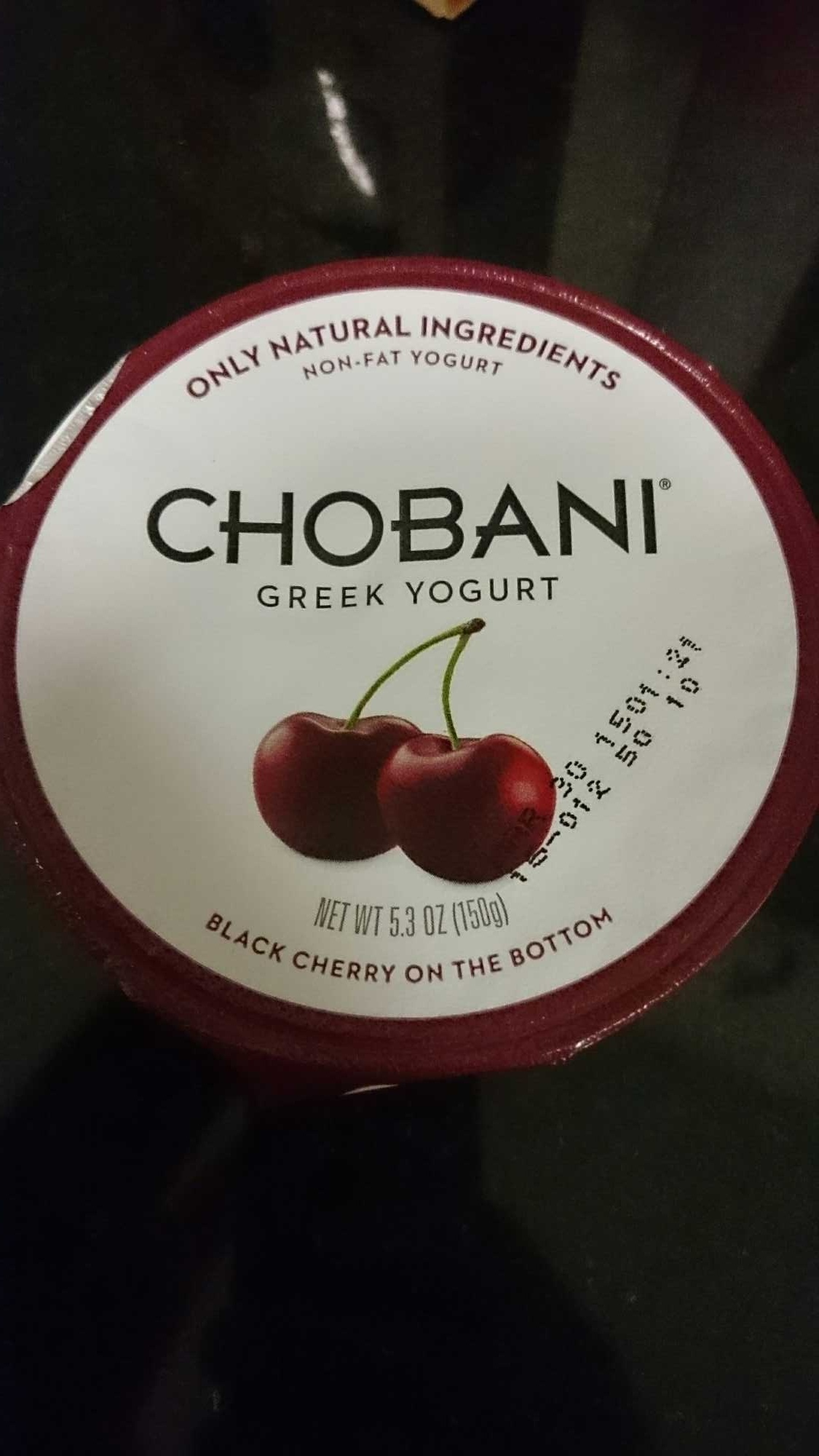 Chobani Green Yogurt Black Cherry - Product