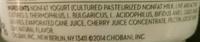 Chobani Green Yogurt Black Cherry - Ingredients