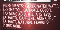 Dr. Zevia Zero Calorie Soda - Ingredients