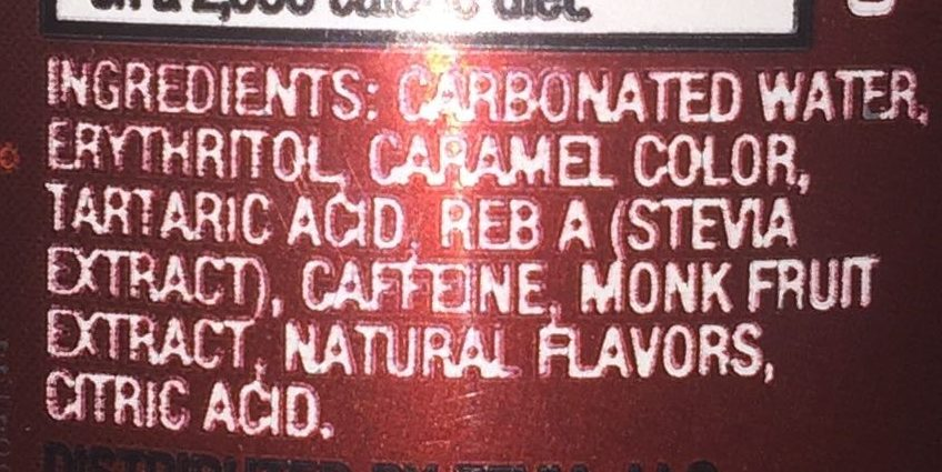 Dr. Zevia Zero Calorie Soda - Ingredients