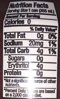 Dr. Zevia Zero Calorie Soda - Nutrition facts