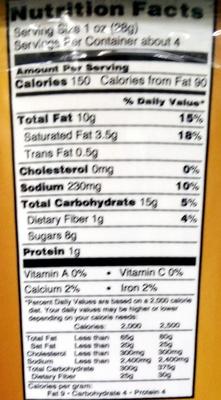 Windy City Mix Caramel & Cheddar Gourmet Popcorn - Nutrition facts - en