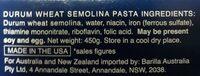Barilla Fettuccine - Ingredients - en