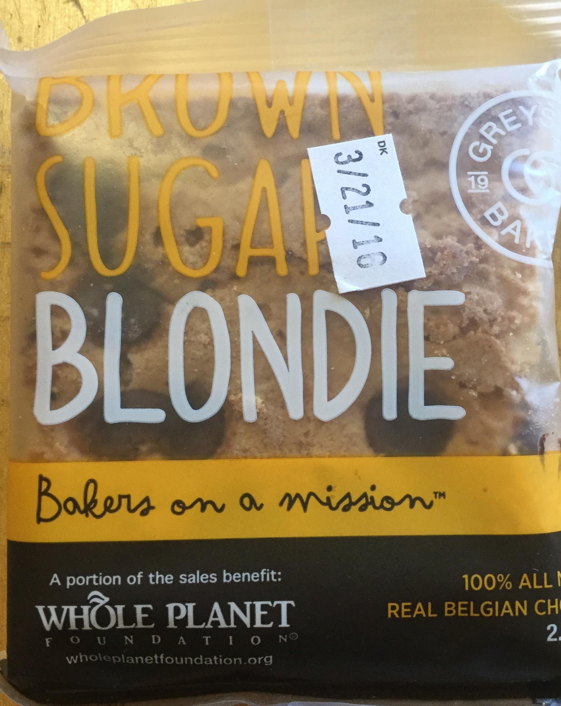 Brown sugar blondie - Product - en
