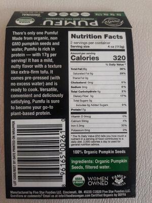 PUMFU - Ingredients - en