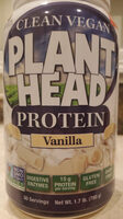 Clean Vegan Plant Head Protein, Vanilla - Product - en