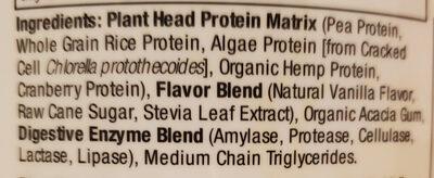 Clean Vegan Plant Head Protein, Vanilla - Ingrediënten - en