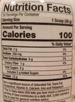 Clean Vegan Plant Head Protein, Vanilla - Voedingswaarden - en