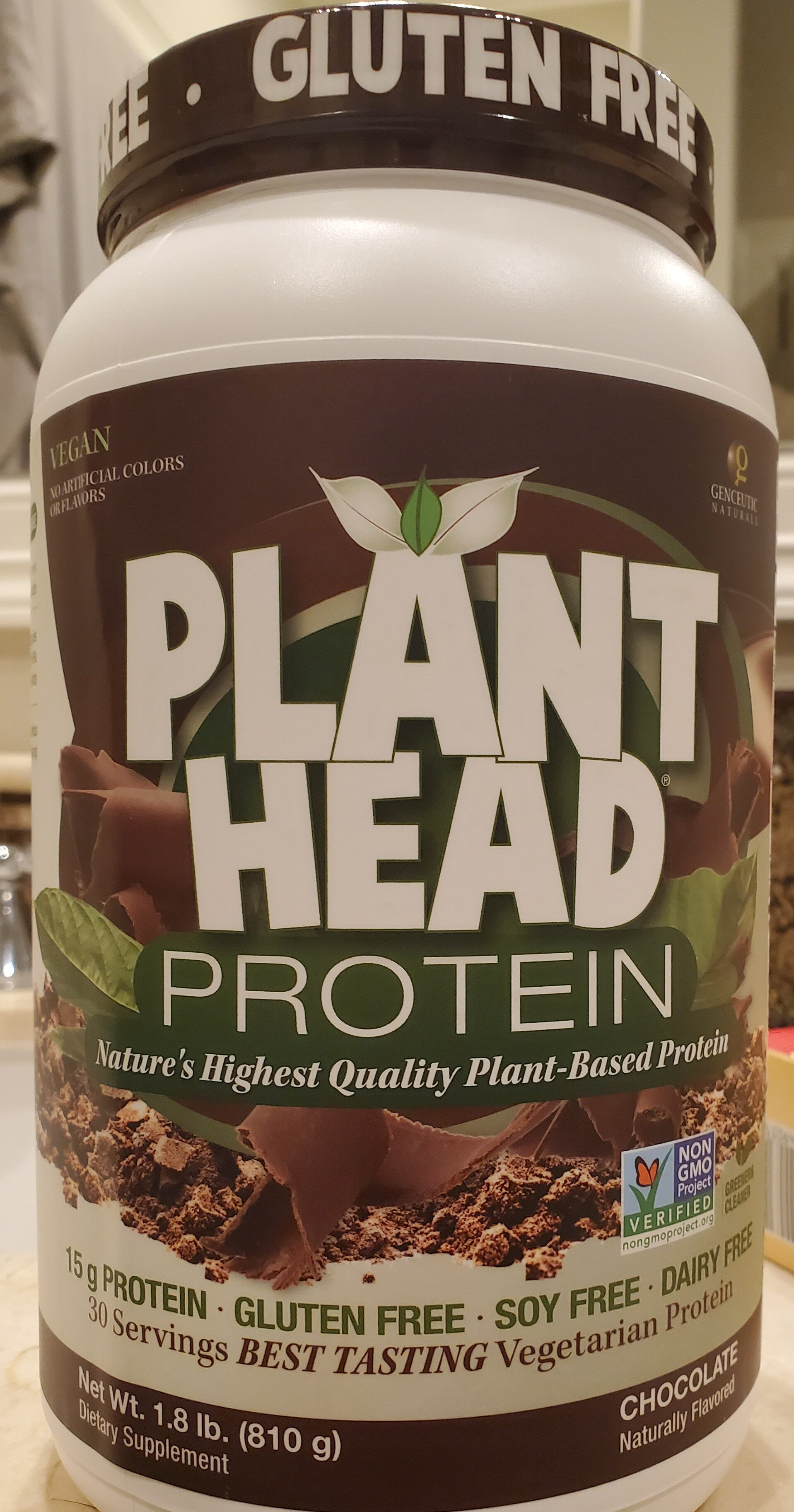 Plant Head Protein, Chocolate - Product - en