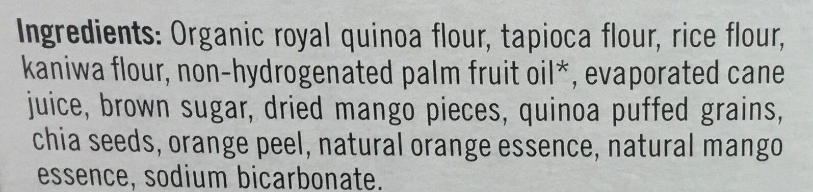 Biscuit de quinoa cookies orange et mangue - Ingredients - en