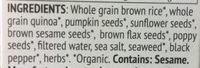 Super seed - Ingrédients - en