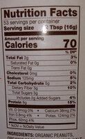 Betterbody Foods PB Fit Usda Organic Powder, Peanut Butter - Nutrition facts - en