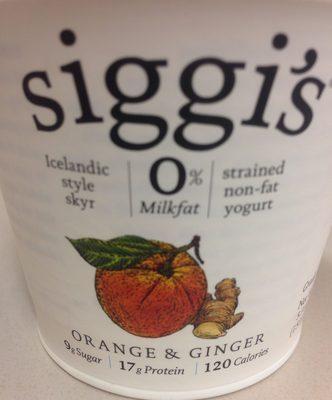 Siggi's Orange & Ginger 0% Milk-fat Icelandic Style Skyr - Product