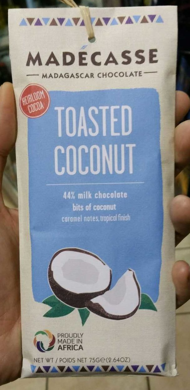 Toasted coconut 44% milk chocolate - Produit - fr