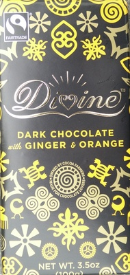 Dark Chocolate with Ginger and Orange - Product