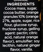 Dark Chocolate with Ginger and Orange - Ingredients