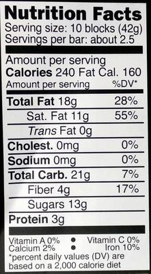 70% cocoa chocolate - Voedingswaarden - en