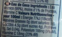 Vita coco - Ingredients