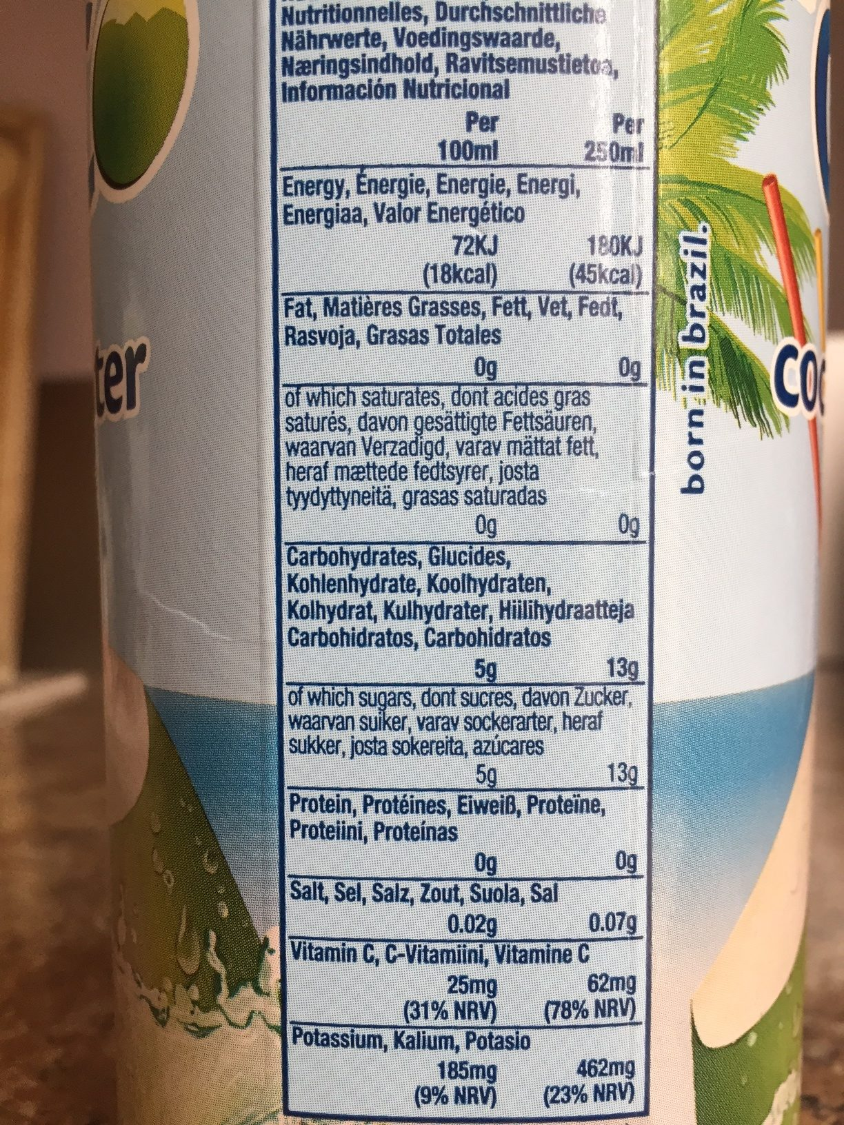COCO - Nutrition facts