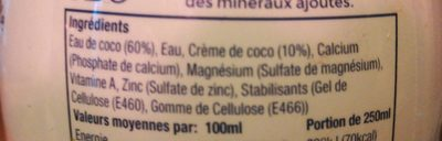 Lait coco - Ingredients