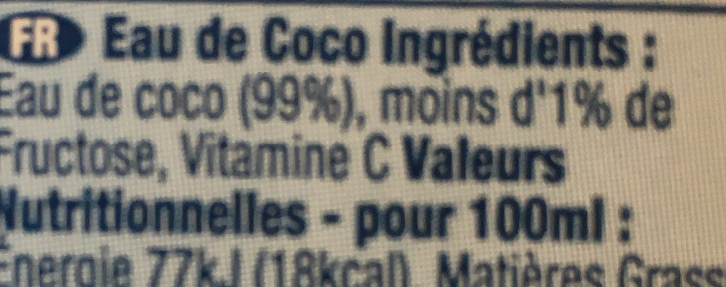 Pure coconut water - Ingredients - en
