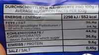 Cleo's peanut butter cups - Nutrition facts - fr