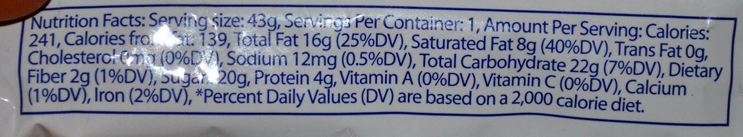 Cleo's White Peanut Butter Cups - Nutrition facts