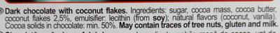 Heidi dark coconut - Ingredients - en