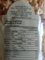 popcorn à l'érable - Informations nutritionnelles