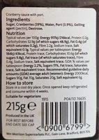 Cranberry Sauce - Ingrediënten