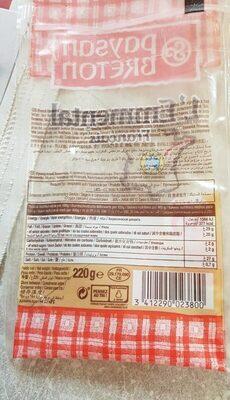 L'Emmental Francais - Informations nutritionnelles - fr