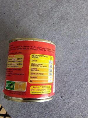 La sauce tomates cuisinée - Nutrition facts - fr