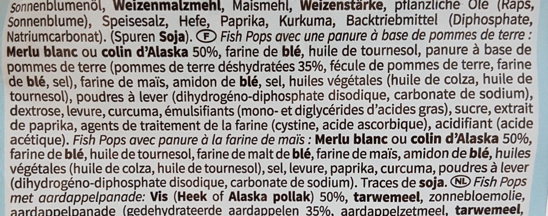 Fish pop - Ingrédients - fr