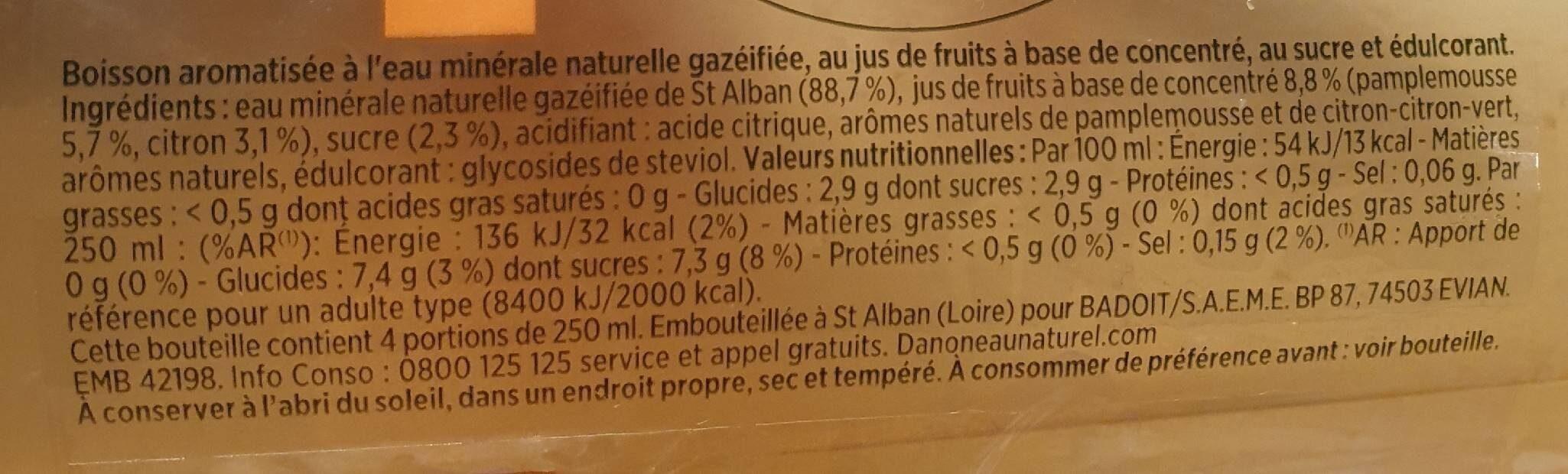 Bulle de fruits - Nutrition facts - fr