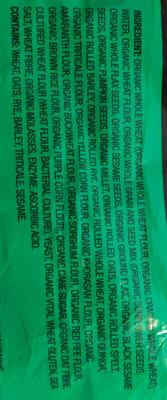 organic loaf - Ingrédients - en