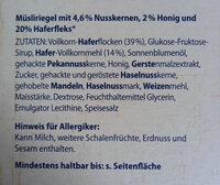 Müsliriegel Honig-Nuss - Produkt - de