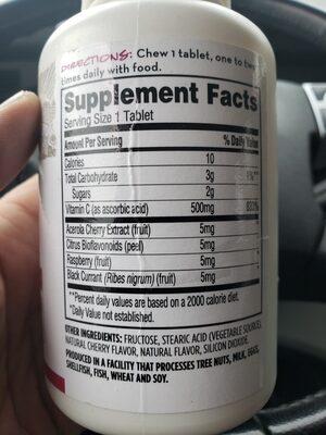 C  Acerola 500MG - Ingredients - en
