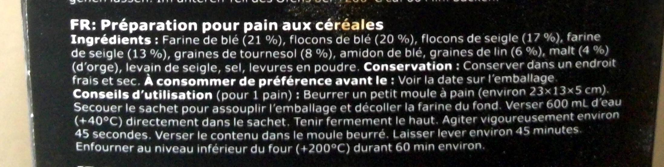 Brödmix flerkorn - Ingrediënten