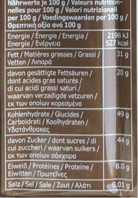 Choklad Mork (zacht Bittere Chocolade) Reep - Informations nutritionnelles - fr