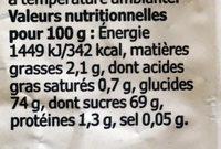 Munsbit - Informations nutritionnelles